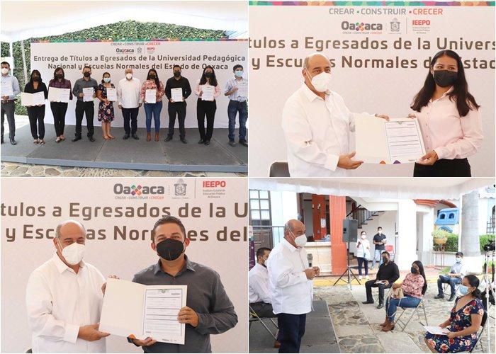 Inicia IEEPO entrega de títulos electrónicos a egresados de Escuelas Normales y unidades UPN