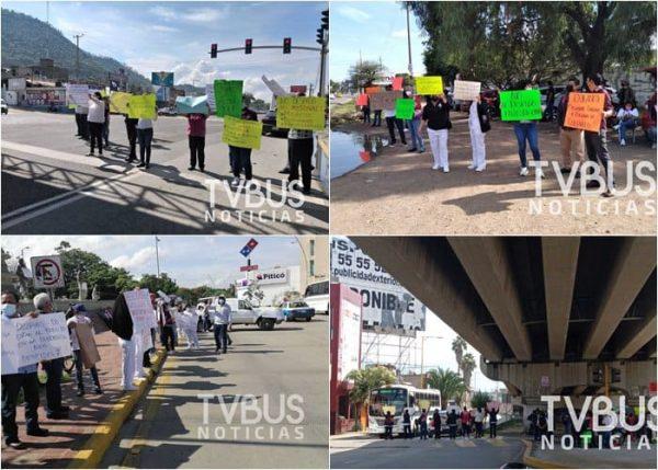 Se moviliza Sección 35 en Oaxaca, se manifiestan en varios cruceros sin bloquear la circulación