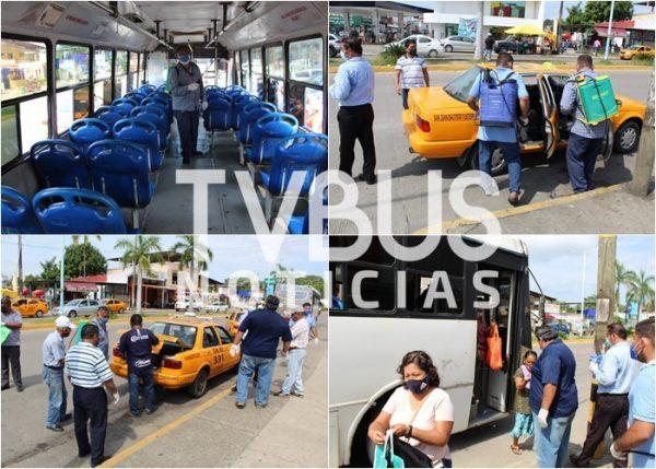 Se suma SEMOVI, Policía Vial y Jurisdicción Sanitaria a saneamiento de transporte público en Tuxtepec