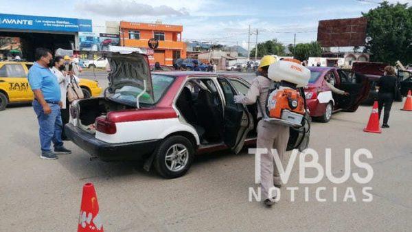 Reanuda SEMOVI operativo para desinfectar transporte público en zona conurbada de la capital