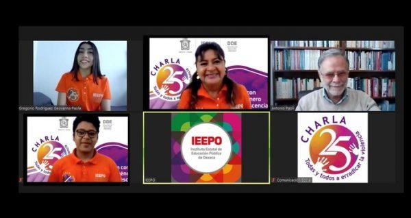 """Comunidad Educativa y Equidad, temade la serie """"Charla25"""" del IEEPO"""