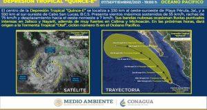 Lluvias no cesan, prevén ciclón en costas de Jalisco y Colima