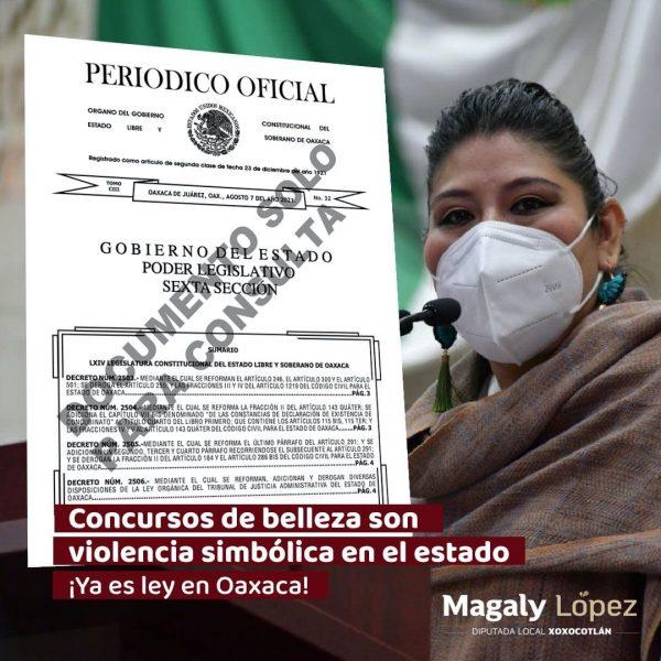 Entra en vigor en Oaxaca ley que declara los concursos de belleza como violencia simbólica