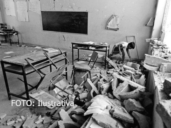 Reporta IEEPO 5 escuelas dañadas por sismo, una de ellas fue pérdida total