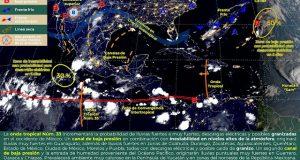 Onda tropical 33 causará lluvias en gran parte del país