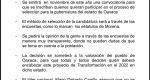 Mediante encuestas, MORENA elegirá a su candidato a la gubernatura de Oaxaca