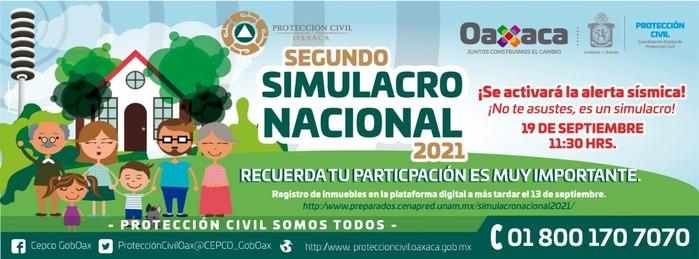 Este domingo 19 de septiembre, a las 11:30 horas, se realizará el Segundo Simulacro Nacional