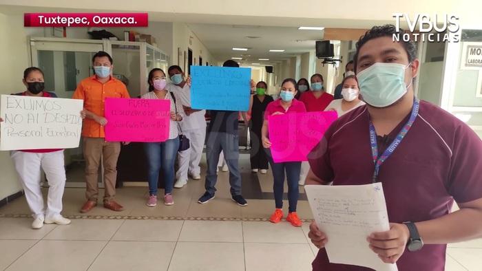 Despiden a más de 180 trabajadores de la salud en el Hospital de Tuxtepec