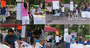 Médicos despedidos por los SSO dan consulta gratuita en el Paseo Juárez El Llano en Oaxaca