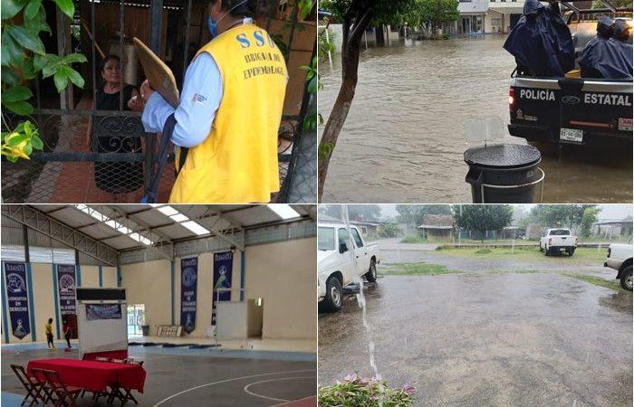 Intensifican los SSO acciones de vigilancia epidemiológica por lluvias en el Istmo