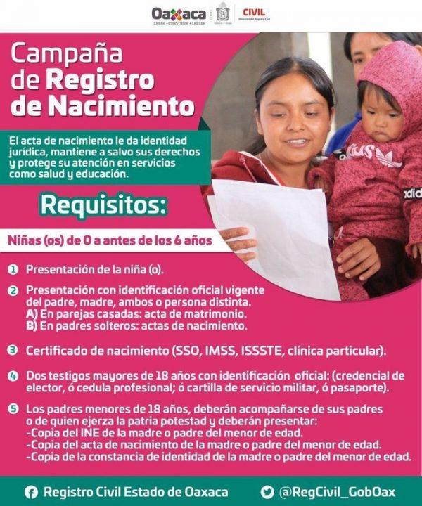 Inicia Registro Civil campaña gratuita para registro de nacimiento; en la Cuenca es del 25 al 1 de octubre