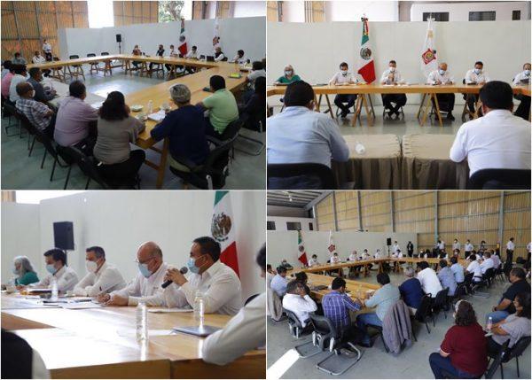Murat y funcionarios del Gobierno Federal, se reúnen para lograr el ordenamiento del sector salud del estado