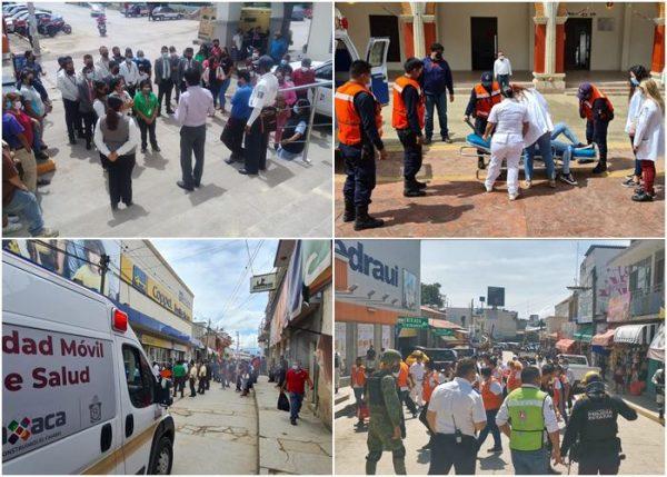 Participa Oaxaca en el segundo Simulacro Nacional 2021 y fortalece cultura de la prevención: CEPCO