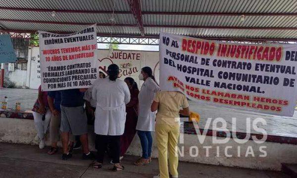 SSO despide a más de 20 trabajadores del Hospital Comunitario de Valle Nacional