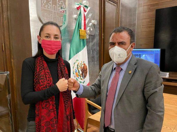 Coinciden Armando Contreras y Claudia Sheinbaum en seguir trabajando con austeridad y transparencia