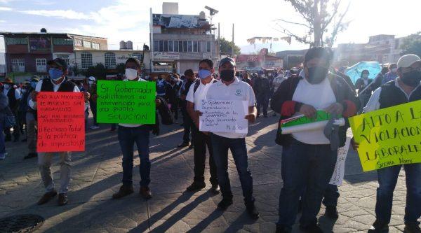 SUTIEBO se manifiesta en Oaxaca, bloquea carretera en el Istmo, toma oficinas en Oaxaca y Tuxtepec