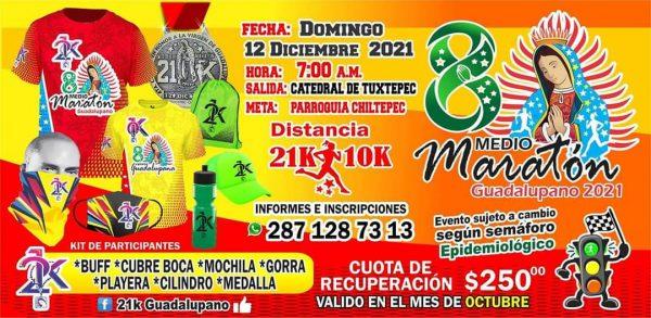 En Chiltepec ya se preparan para el medio maratón Guadalupano en su octava edición