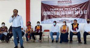 Diputado Armando Contreras toma protesta a Comités de Defensa de la 4T en Zimatlán de Álvarez
