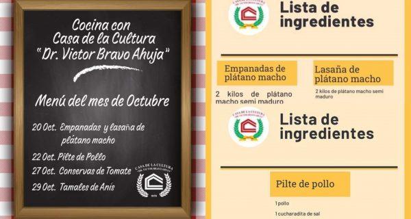 Con recetas tradicionales, Casa de la Cultura de Tuxtepec busca fortalecer gastronomía