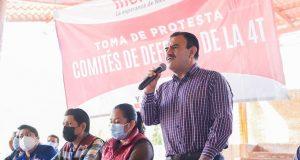 Preside Armando Contreras toma de protesta de Comité de Defensa de la 4T en distrito 06 de Oaxaca
