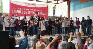 Acompaña Armando Contreras a Mario Delgado en toma de protesta a Comités de la 4T
