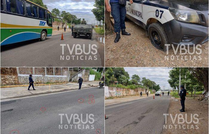 Balacera en Temascal: atacan a Policías Municipales; no hubo víctimas mortales