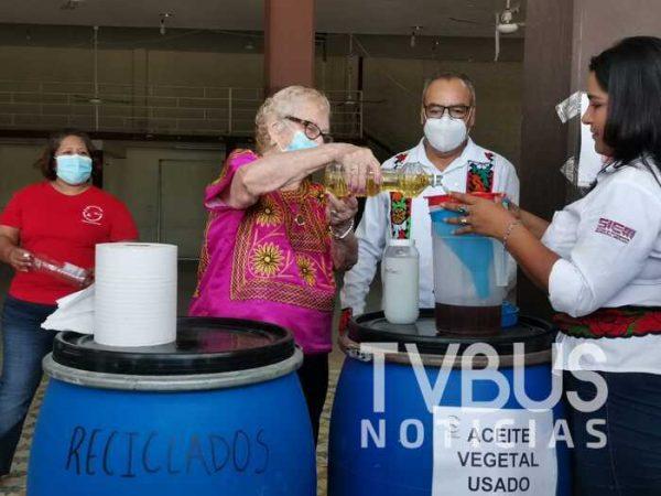 Instalan centro de acopio de aceite quemado en Tuxtepec