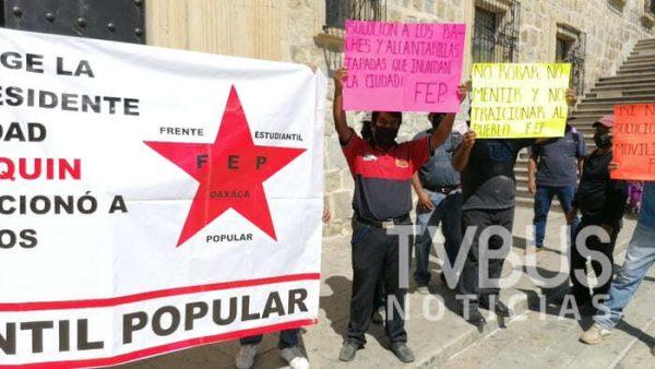 Frente Estudiantil Popular pide destitución y auditoría a Oswaldo García Jarquín