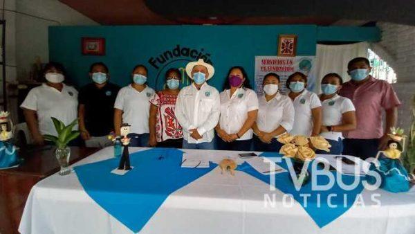 """Fundación """"ELPESA"""" de Valle Nacional, rinde su primer informe de actividades a un mes de haber iniciado"""