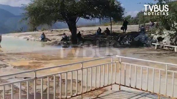 Autoridades de Roaguía reaperturan Hierve el Agua, sin apoyo del Gobierno de Oaxaca