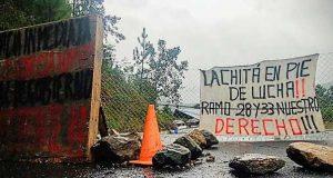 Habitantes de Lachitá, intensificarán bloqueos carreteros ante la falta de entrega de recursos del ramo 28 y 33