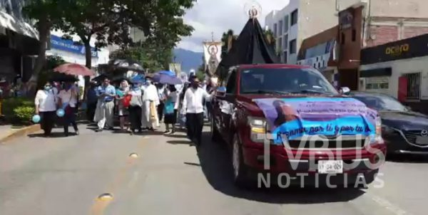 Iglesia católica marcha en Oaxaca en contra de despenalización del aborto