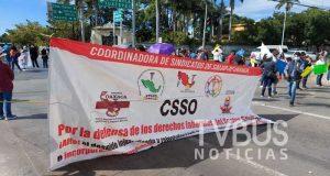Nuevamente marchan ex trabajadores de salud en Oaxaca para exigir recontratación