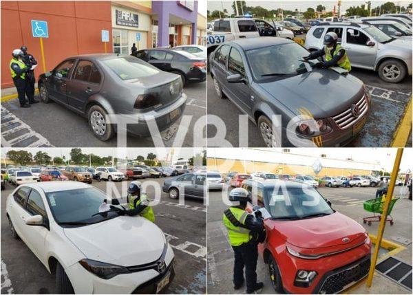 Crece inconciencia; van 25 multas en una semana por estacionarse en lugares para discapacitados
