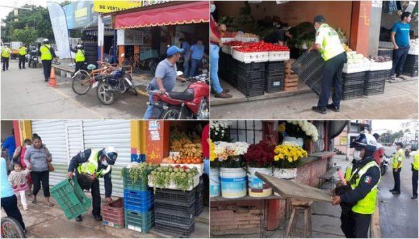 Hasta 9 mil pesos de multa por invadir vía pública en Tuxtepec; operativo es permanente