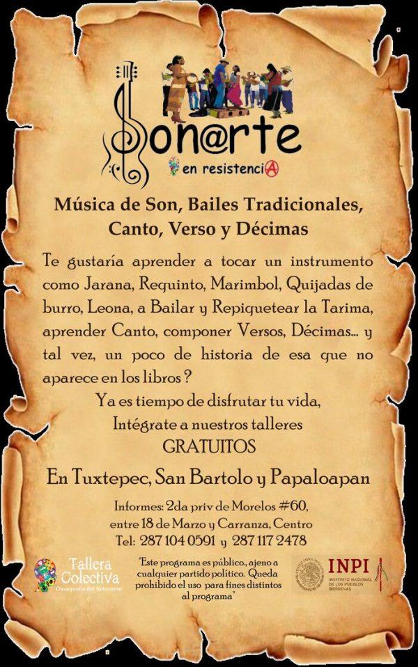 Invita Tallera Colectiva a cursos gratuitos en Tuxtepec, San Bartolo y Papaloapan
