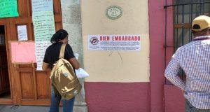 SSO mal y de malas, Ayuntamiento de Oaxaca embarga oficina central, no han pagado predial