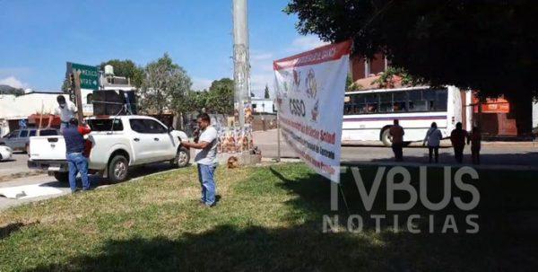 Continúan protestas de ex trabajadores de los SSO, denuncian nulos avances con Gobierno del Estado